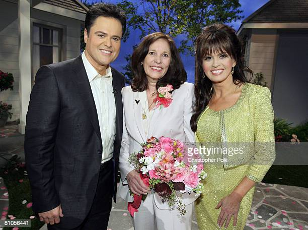 CULVER CITY CA MAY 11 Donny Osmond Patti PattonBader Military Mom and Marie Osmond during Teleflora presents America's Favorite Mom in Culver City on...