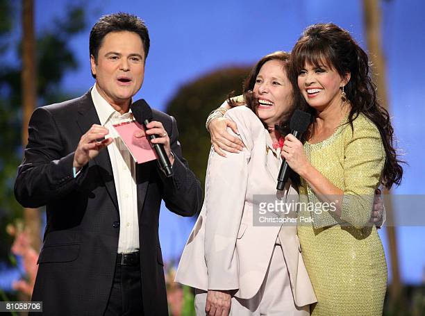 CULVER CITY CA MAY 11 Donny Osmond Patti PattonFader Military Mom and Marie Osmond during Teleflora presents America's Favorite Mom in Culver City on...