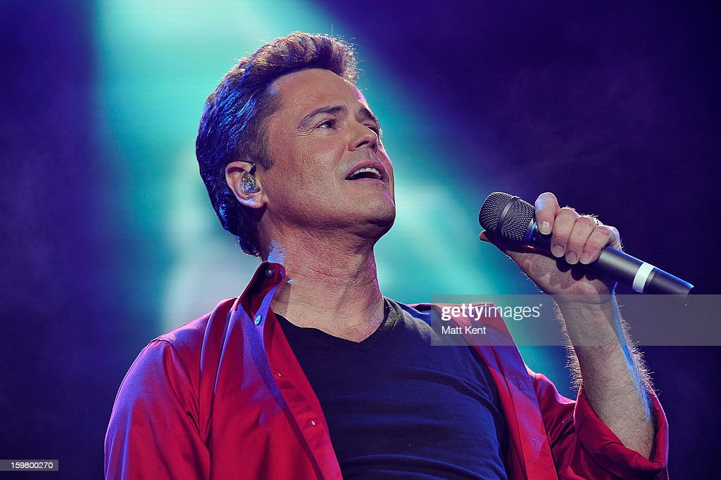 Donny Osmond performs at the Donny and Marie Osmond concert at the 02 Arena on January 20, 2013 in London, England.