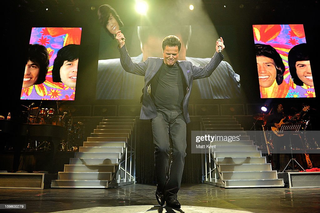 <a gi-track='captionPersonalityLinkClicked' href=/galleries/search?phrase=Donny+Osmond&family=editorial&specificpeople=214564 ng-click='$event.stopPropagation()'>Donny Osmond</a> performs at the Donny and Marie Osmond concert at the 02 Arena on January 20, 2013 in London, England.