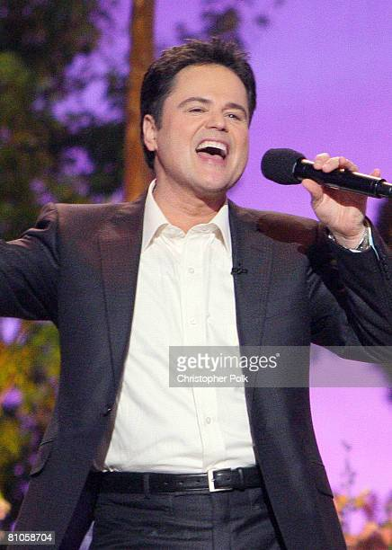 CULVER CITY CA MAY 11 Donny Osmond performs during Teleflora presents America's Favorite Mom in Culver City on May 10 2008 Pasadena CA resident and...
