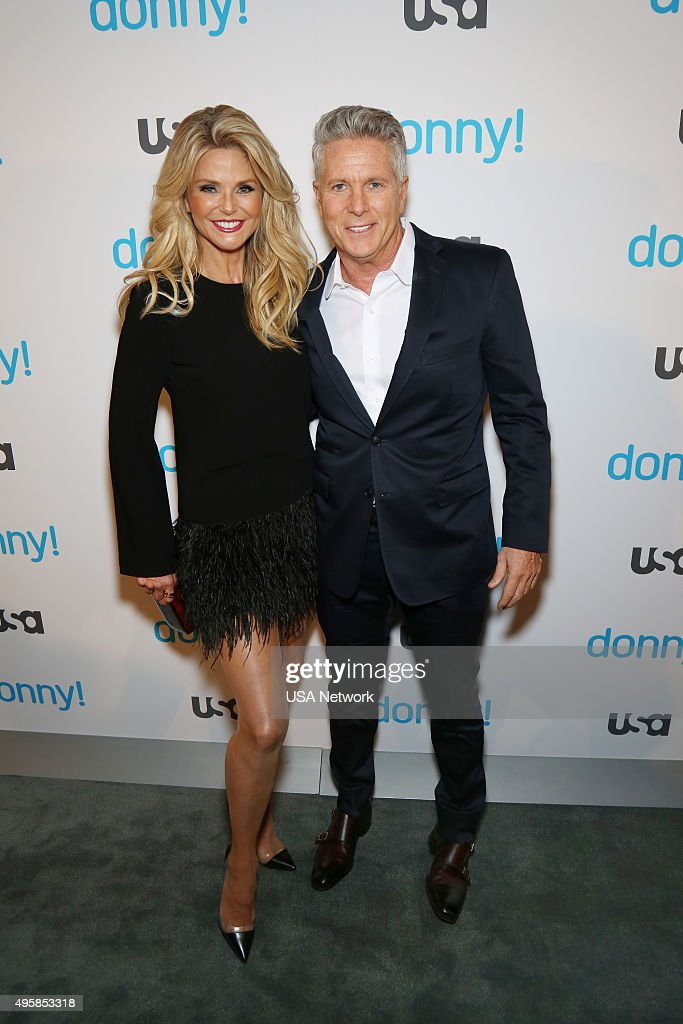 DONNY! -- 'Donny! Premiere Party' -- Pictured: (l-r) Christie Brinkley, Donny Deutsch from 'Donny!' --