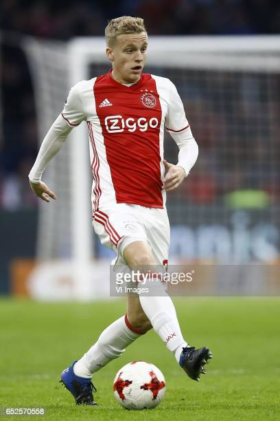 Donny van Beek of Ajax Amsterdamduring the Dutch Eredivisie match between Ajax Amsterdam and FC Twente Enschede at the Amsterdam Arena on March 12...