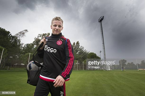 Donny van de Beek of Ajax cancelation training due to thunder storm during the training camp of Ajax Amsterdam on January 7 2016 at Belek Turkey