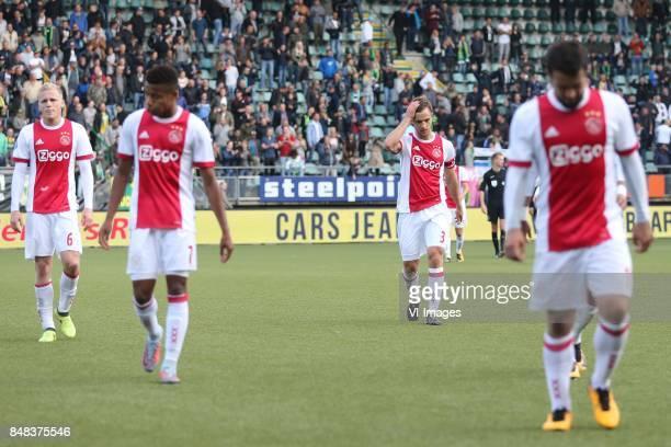 Donny van de Beek of Ajax David Neres of Ajax Joel Veltman of Ajax Amin Younes of Ajax during the Dutch Eredivisie match between ADO Den Haag and...
