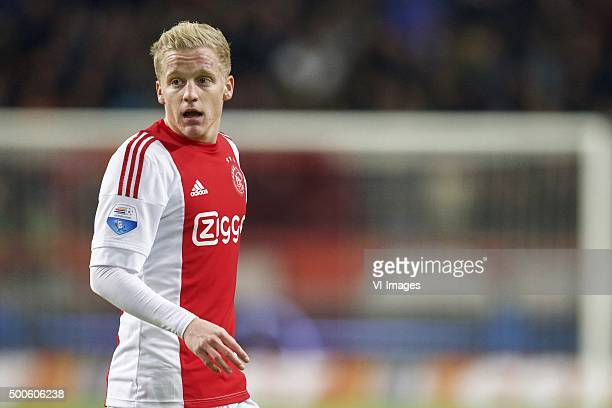 Donny van de Beek of Ajax during the Dutch Eredivisie match between Ajax Amsterdam and sc Heerenveen at the Amsterdam Arena on December 5 2015 in...