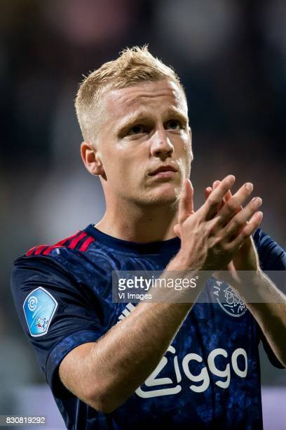 Donny van de Beek of Ajax during the Dutch Eredivisie match between Heracles Almelo and Ajax Amsterdam at Polman stadium on August 12 2017 in Almelo...