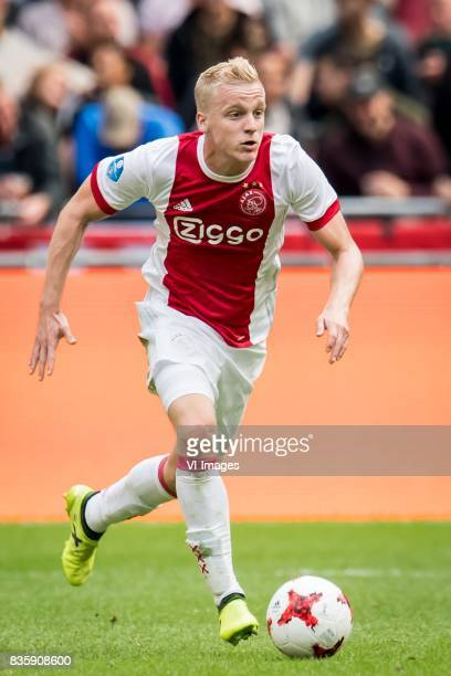 Donny van de Beek of Ajax during the Dutch Eredivisie match between Ajax Amsterdam and FC Groningen at the Amsterdam Arena on August 20 2017 in...