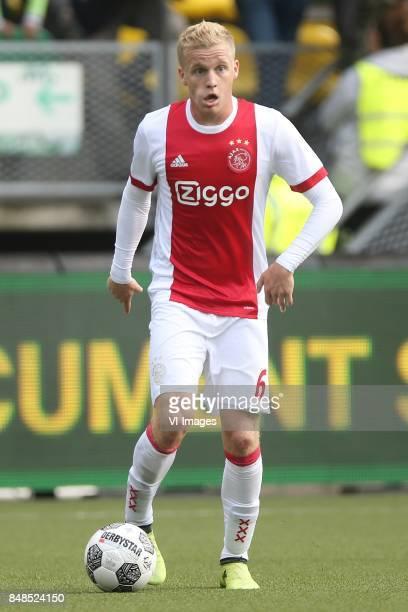 Donny van de Beek of Ajax during the Dutch Eredivisie match between ADO Den Haag and Ajax Amsterdam at Car Jeans stadium on September 17 2017 in The...