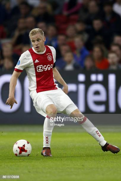 Donny van de Beek of Ajax during the Dutch Eredivisie match between Ajax Amsterdam and Sparta Rotterdam at the Amsterdam Arena on October 14 2017 in...