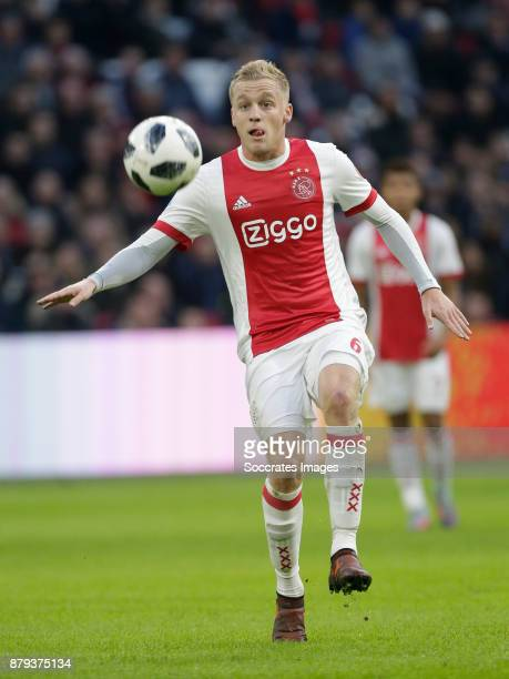 Donny van de Beek of Ajax during the Dutch Eredivisie match between Ajax v Roda JC at the Johan Cruijff Arena on November 26 2017 in Amsterdam...