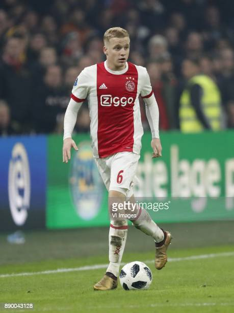 Donny van de Beek of Ajax during the Dutch Eredivisie match between Ajax Amsterdam and PSV Eindhoven at the Amsterdam Arena on December 10 2017 in...