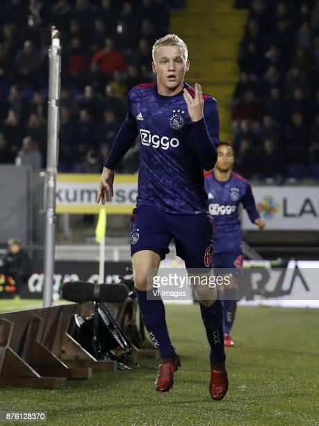 Donny van de Beek of Ajax Justin Kluivert of Ajax during the Dutch Eredivisie match between NAC Breda and Ajax Amsterdam at the Rat Verlegh stadium...