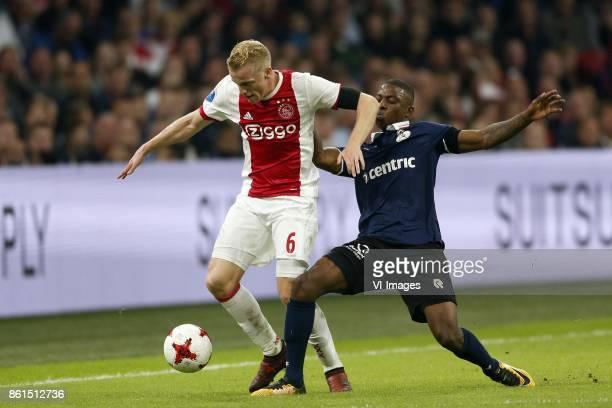 Donny van de Beek of Ajax Sherel Floranus of Sparta Rotterdam during the Dutch Eredivisie match between Ajax Amsterdam and Sparta Rotterdam at the...