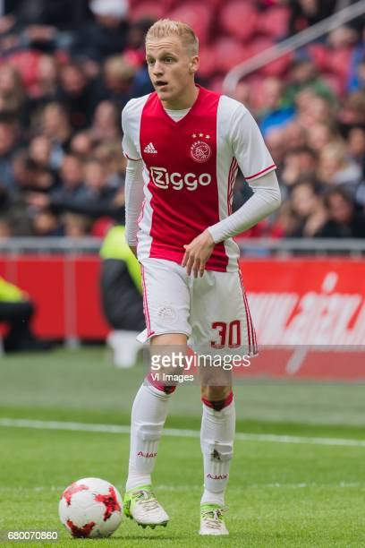 Donny van de Beek of Ajaxduring the Dutch Eredivisie match between Ajax Amsterdam and Go Ahead Eagles at the Amsterdam Arena on May 07 2017 in...