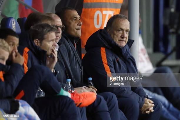 Donny van de Beek of Holland Tonny Vilhena of Holland doctor Edwin Goedhart of Holland goalkeeper trainer Frans Hoek of Holland assistant trainer...