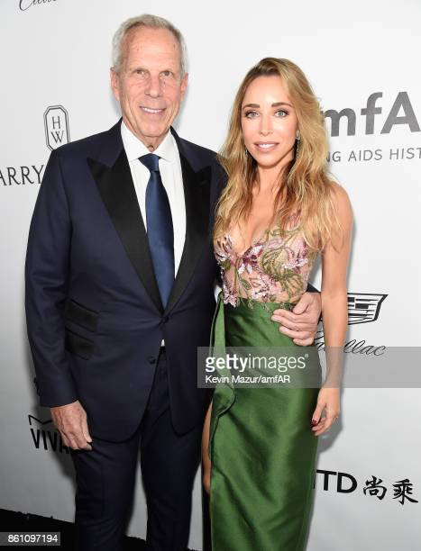 Donor Steve Tisch and Katia Francesconi attend the amfAR Gala Los Angeles 2017 at Ron Burkle's Green Acres Estate on October 13 2017 in Beverly Hills...