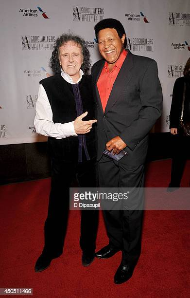 Donovan and Chubby Checker attend the Songwriters Hall of Fame 45th Annual Induction and Awards at Marriott Marquis Theater on June 12 2014 in New...