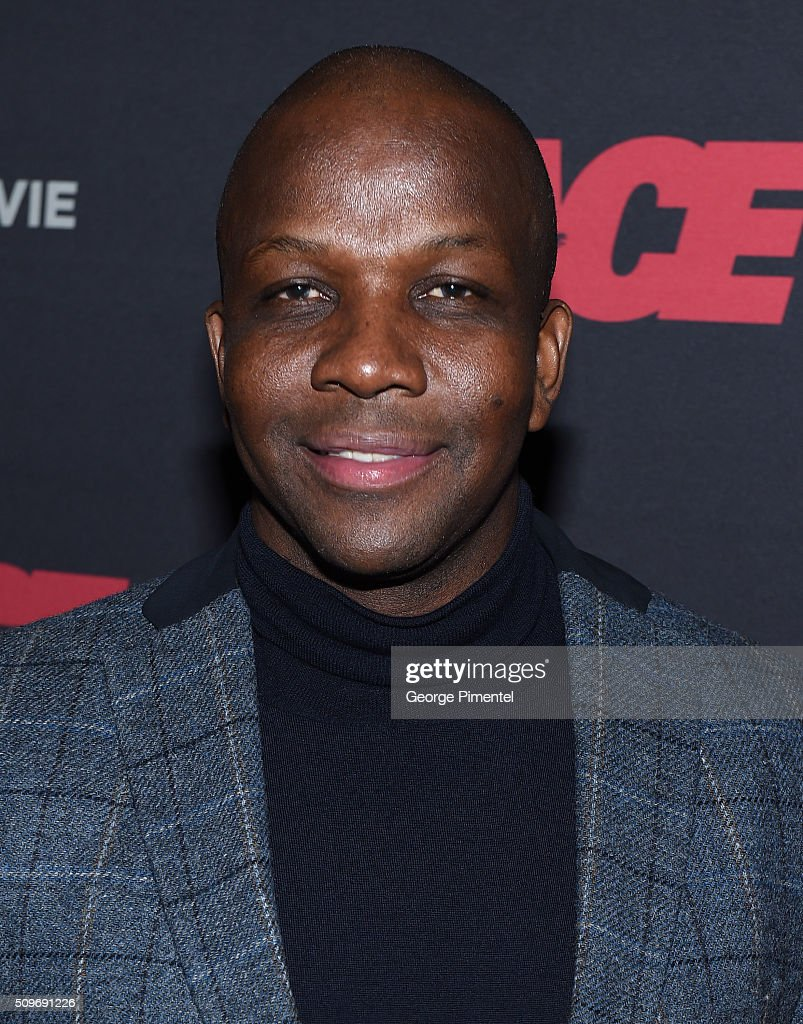 <a gi-track='captionPersonalityLinkClicked' href=/galleries/search?phrase=Donovan+Bailey&family=editorial&specificpeople=240402 ng-click='$event.stopPropagation()'>Donovan Bailey</a> attends the Canadian Red Carpet Premiere of 'Race' at Scotiabank Theatre on February 11, 2016 in Toronto, Canada.