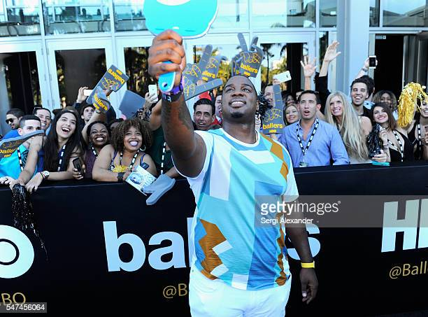 Donovan Carter attends the HBO Ballers Season 2 Red Carpet Premiere and Reception on July 14 2016 at New World Symphony in Miami Beach Florida