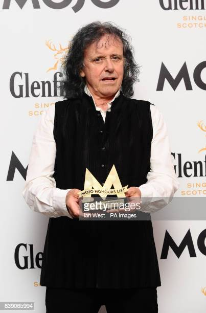 Donovan is presented with the Maverick Award at the Mojo Awards ceremony in London