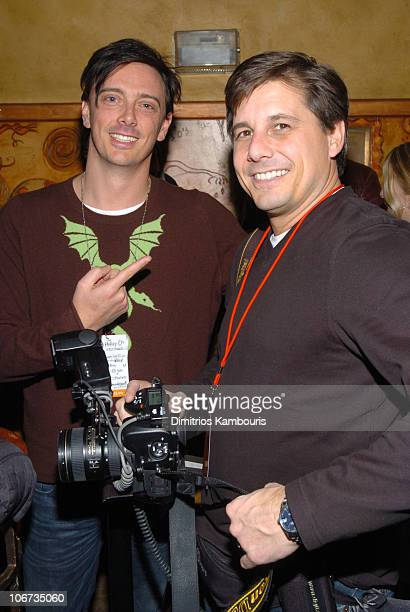 Donovan Leitch and Kevin Mazur during 2004 Park City Blender Sessions with Samantha Ronson and Macy Gray Benefiting Inner City Filmmakers at Harry...
