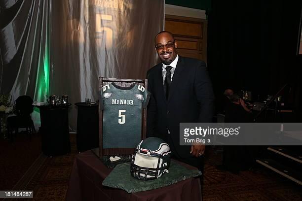 Donovan McNabb attend a retirement dinner hosted by Caesars Atlantic City for former NFL Quarterback Donovan McNabb who lead the Philadelphia Eagles...