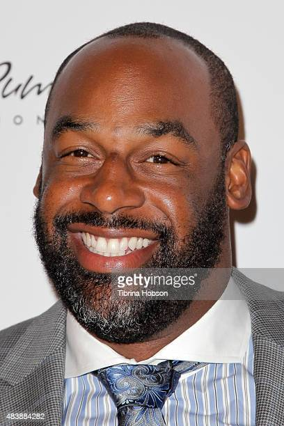 Donovan McNabb attends the 15th annual Harold and Carole Pump Foundation gala at the Hyatt Regency Century Plaza on August 7 2015 in Los Angeles...