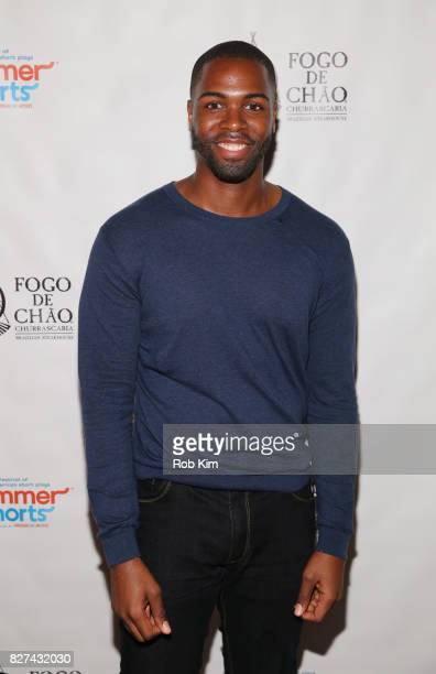 Donovan Mitchell attends the OffBroadway opening night party for 'SUMMER SHORTS 2017' at Fogo de Chao Churrascaria on August 7 2017 in New York City