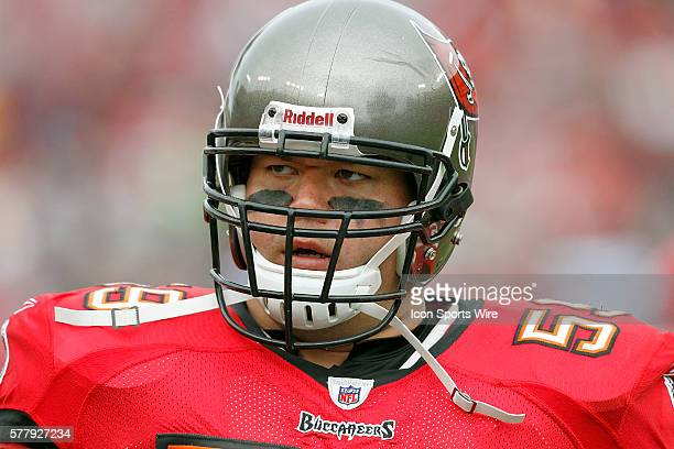 Donovan Raiola of the Buccaneers during the game between the Detroit Lions and the Tampa Bay Buccaneers at Raymond James Stadium in Tampa FL