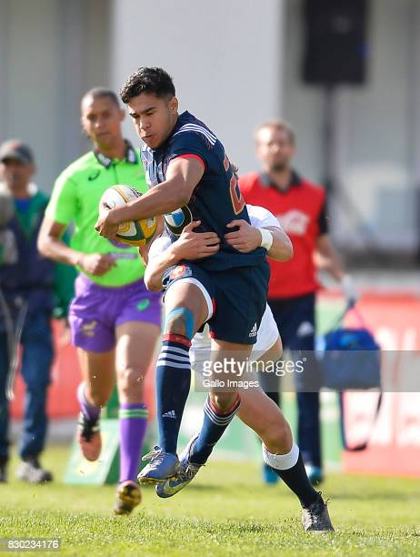 Donovan Taofifenua of France during the U19 International Series match between France and England at Markotter Fields Paul Roos Gymnasium on August...