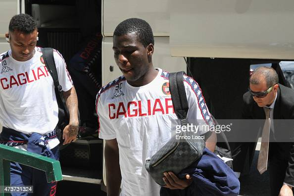 Donsah Godfred of Cagliari looks on during the Serie A match between Cagliari Calcio and US Citta di Palermo at Stadio Sant'Elia on May 17 2015 in...