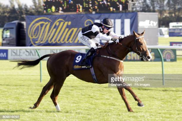 Don't Call Me ridden by Adrian Nicholls on their way to winning the williamhillcom Ayrshire Handicap during the William Hill Ayr Gold Cup Festival at...