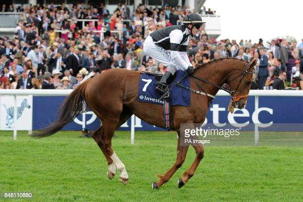 Don't Call Me ridden by jockey Adrian Nicholls goes to post in the Investec Mile