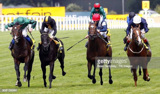 Don't Call Me ridden by Richard Mullen goes on to win the Dubai duty free stakes at Ascot Racecourse Ascot