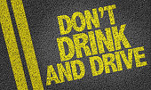 Don't Drink and Drive written on the road