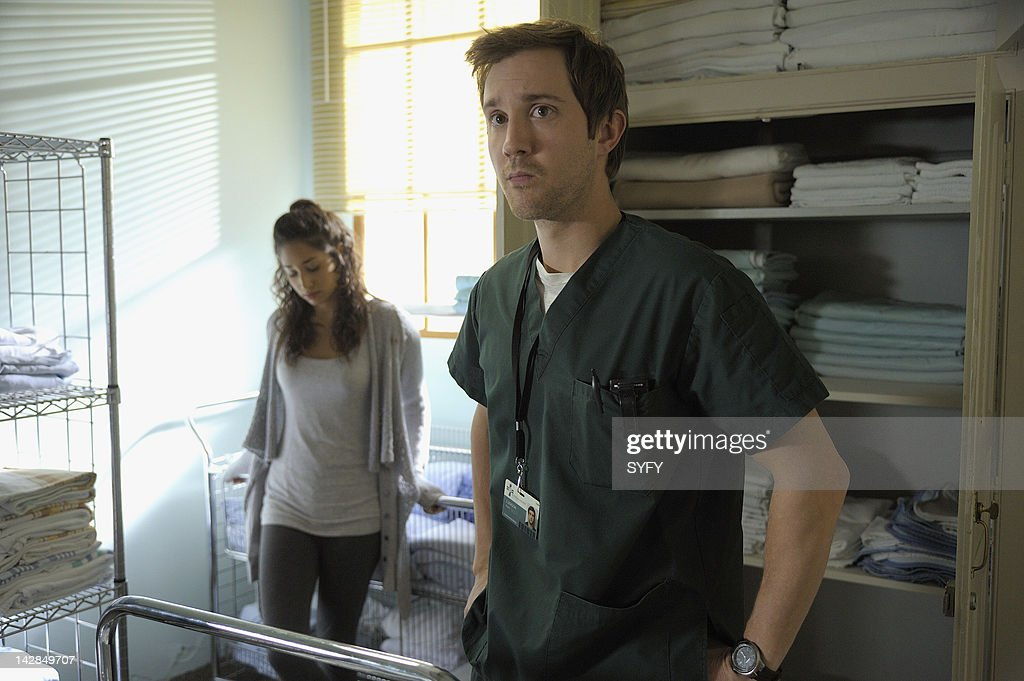 HUMAN -- 'Don't Fear The Scott' Episode 211 -- Pictured: (l-r) Meaghan Rath as Sally Malik, <a gi-track='captionPersonalityLinkClicked' href=/galleries/search?phrase=Sam+Huntington&family=editorial&specificpeople=546776 ng-click='$event.stopPropagation()'>Sam Huntington</a> as Josh --