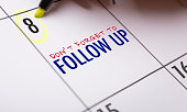 Dont Forget to Follow Up calendar note