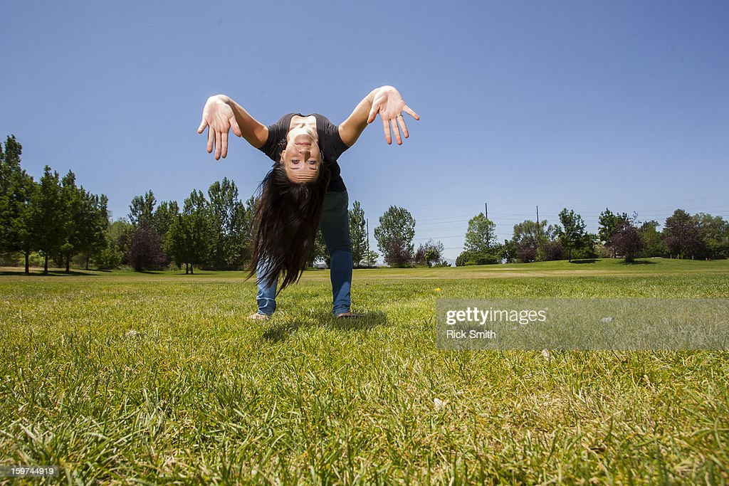 Don't try this at home. : Stock Photo