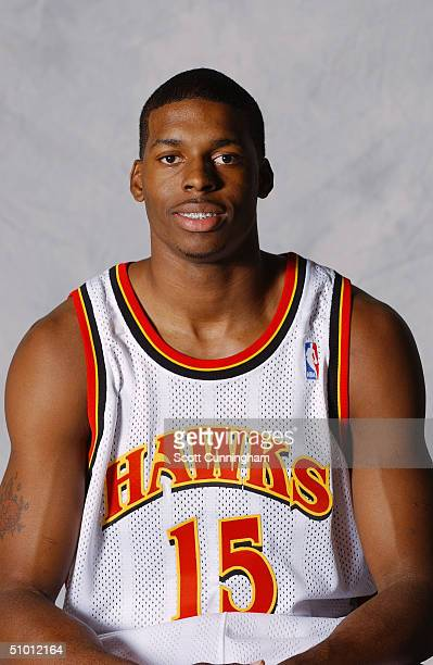 Donta Smith of the Atlanta Hawks poses for a portrait on June 28 2004 at the Philips Arena in Atlanta Georgia NOTE TO USER User expressly...