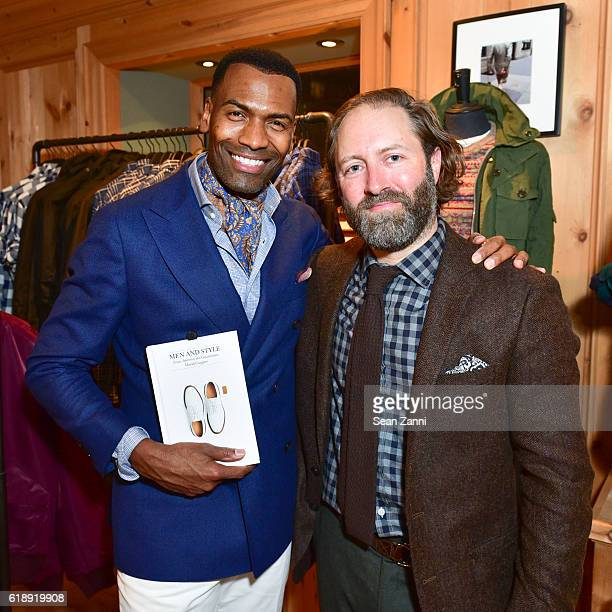 Donte Chappell and David Coggins attend Frank Muytjens JCrew Celebrate David Coggins New Book 'Men and Style' at JCrew Men's Shop on October 27 2016...