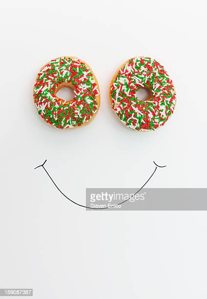 Donut eyes on a happy face