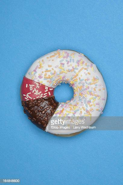 A donut made from different pieces