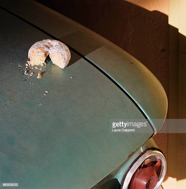 Donut on car