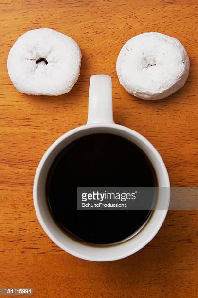 Donuts and Coffee as a Funny Face