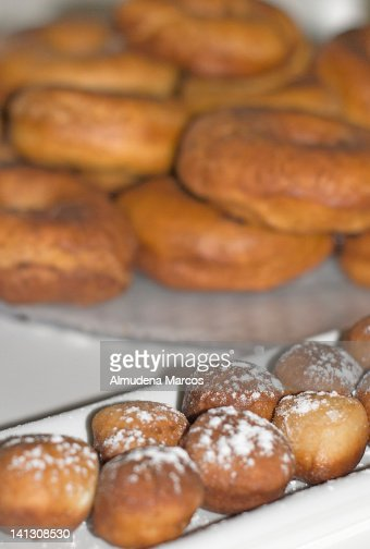 Donuts and donut holes : Stock Photo