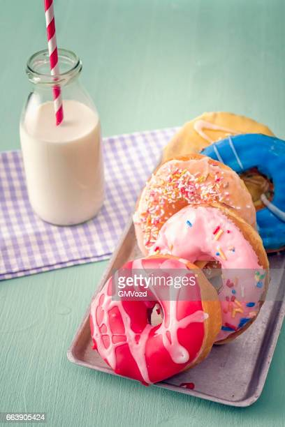 Donuts with Icing and Chocolate