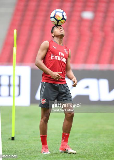 Donyell Malen of Arsenal during a training session at the Birds Nest stadium on July 21 2017 in Beijing China