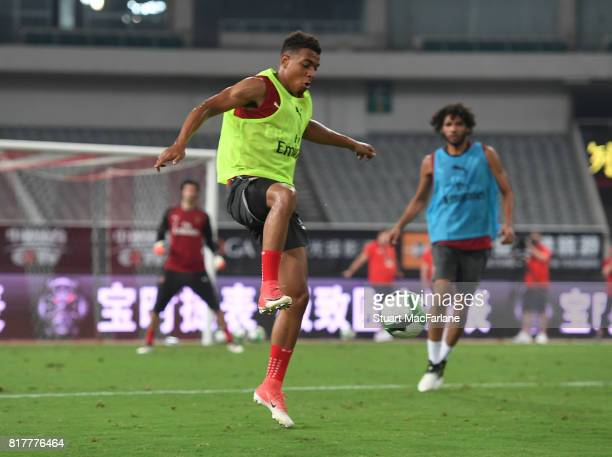Donyell Malen of Arsenal during a training session at the Shanghai Stadium on July 18 2017 in Shanghai China