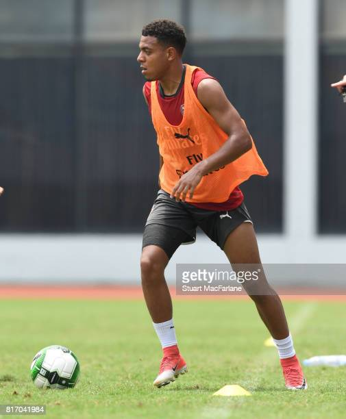 Donyell Malen of Arsenal during a training session in Shanghai on July 18 2017 in China